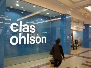 Clas Ohlson LED illuminated retail sign Merry Hill