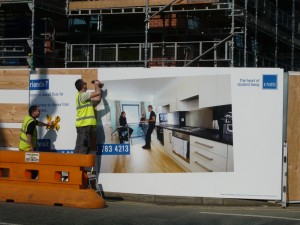 40m hoarding for Unite Student Housing Manchester